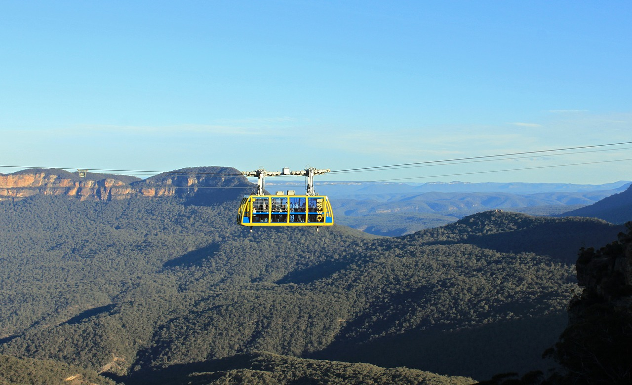 Blue-Mountains-og-Australiens-mest-berømte-søstre-cable-car